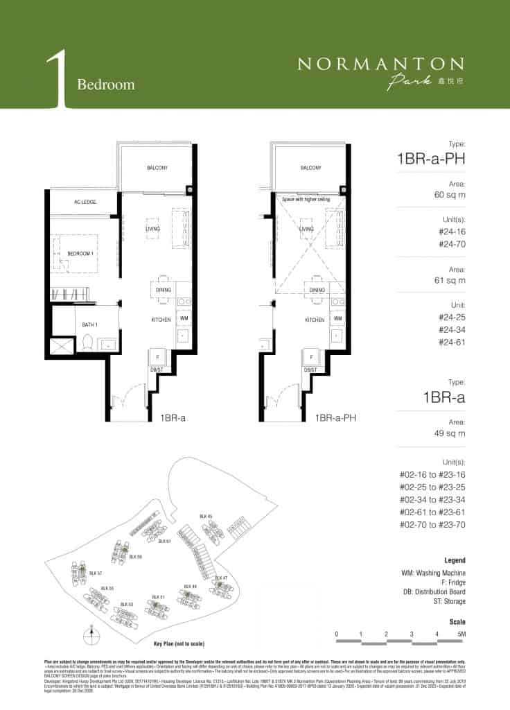 Normanton Park Floor Plan Type 1BR-a