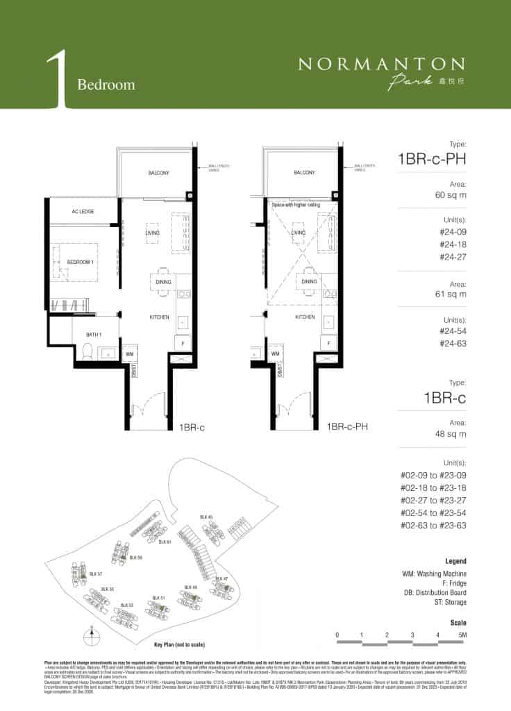 Normanton Park Floor Plan Type 1BR-c