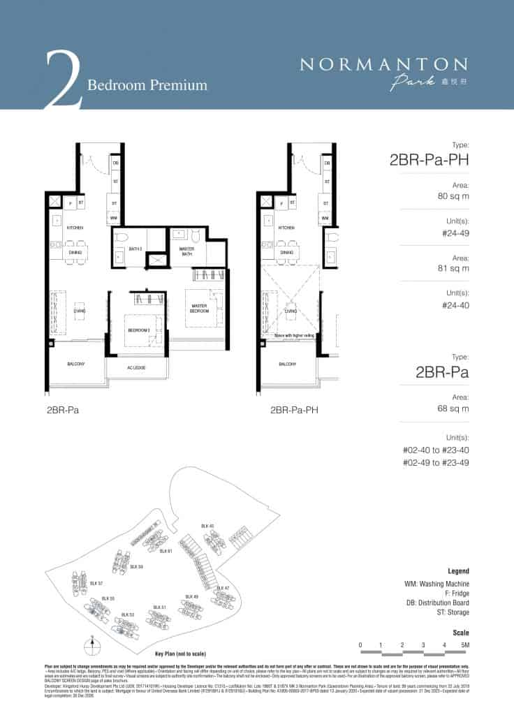 Normanton Park Floor Plan Type 2BR-Pa