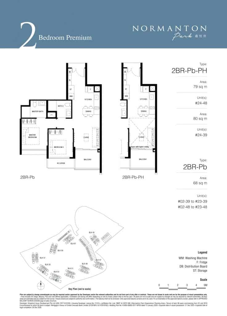 Normanton Park Floor Plan Type 2BR-Pb