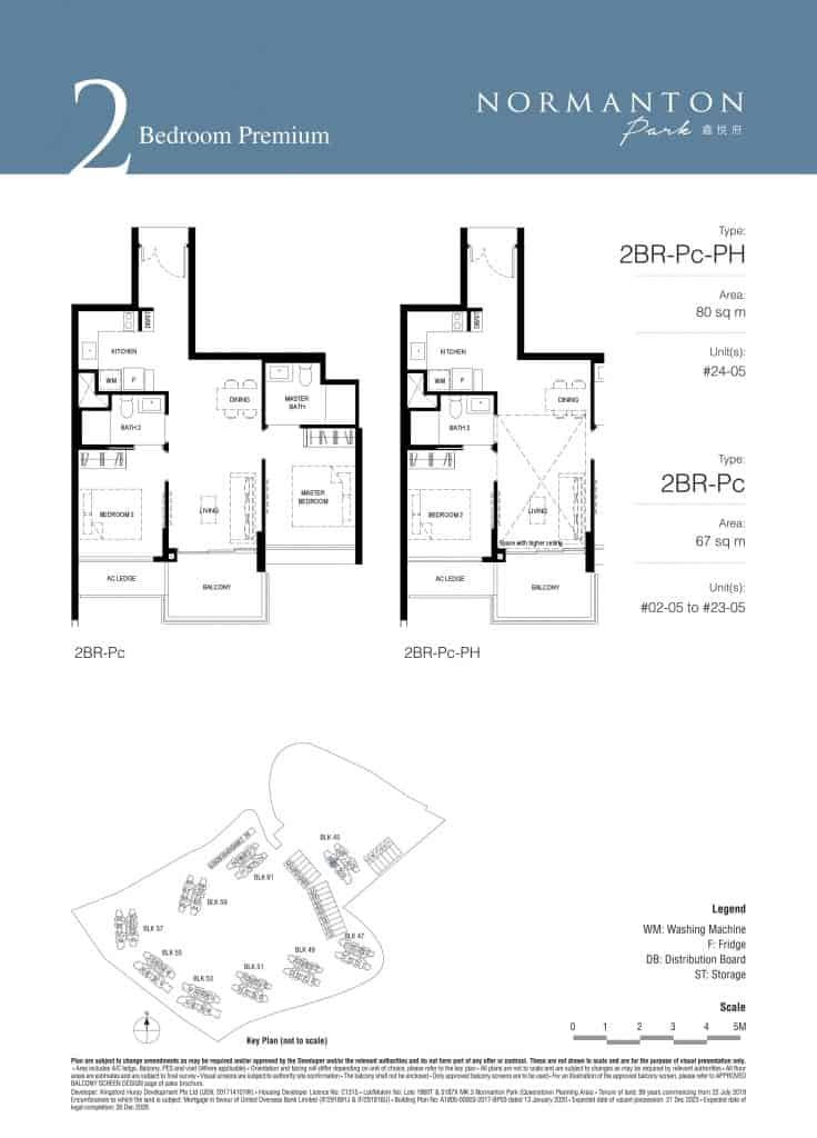 Normanton Park Floor Plan Type 2BR-Pc