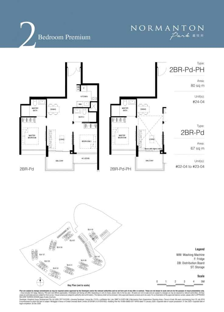 Normanton Park Floor Plan Type 2BR-Pd