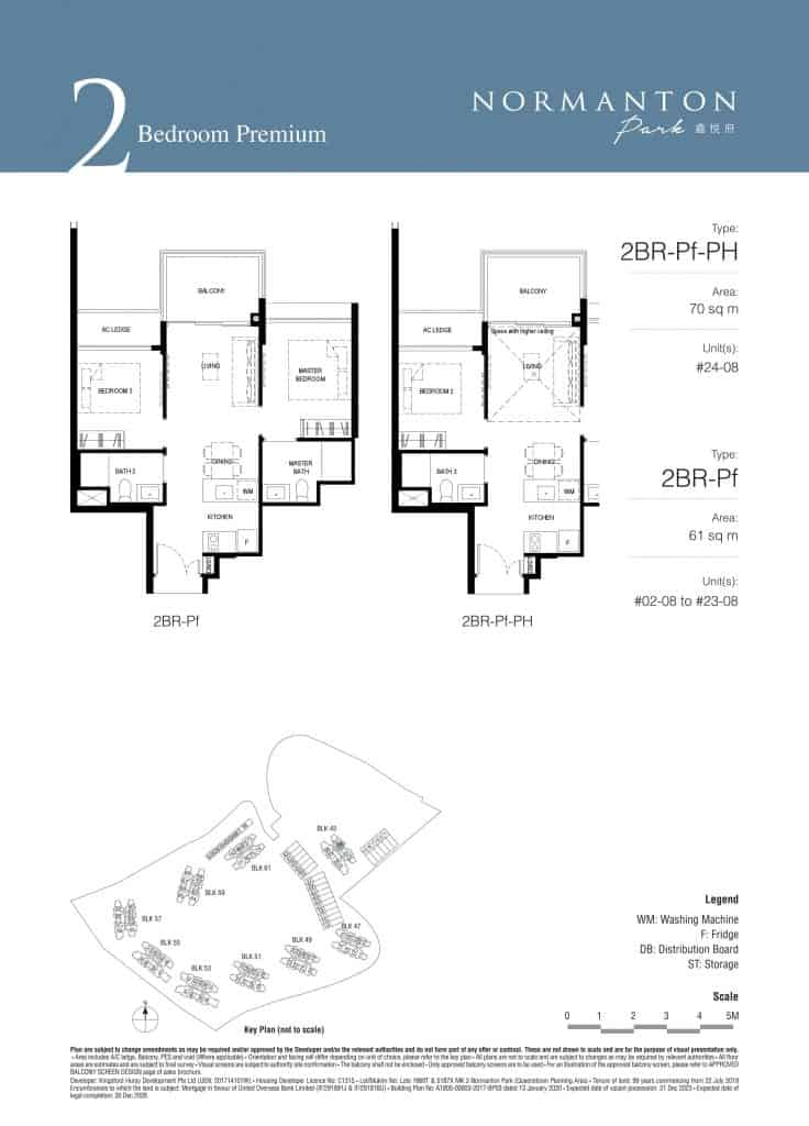 Normanton Park Floor Plan Type 2BR-Pf