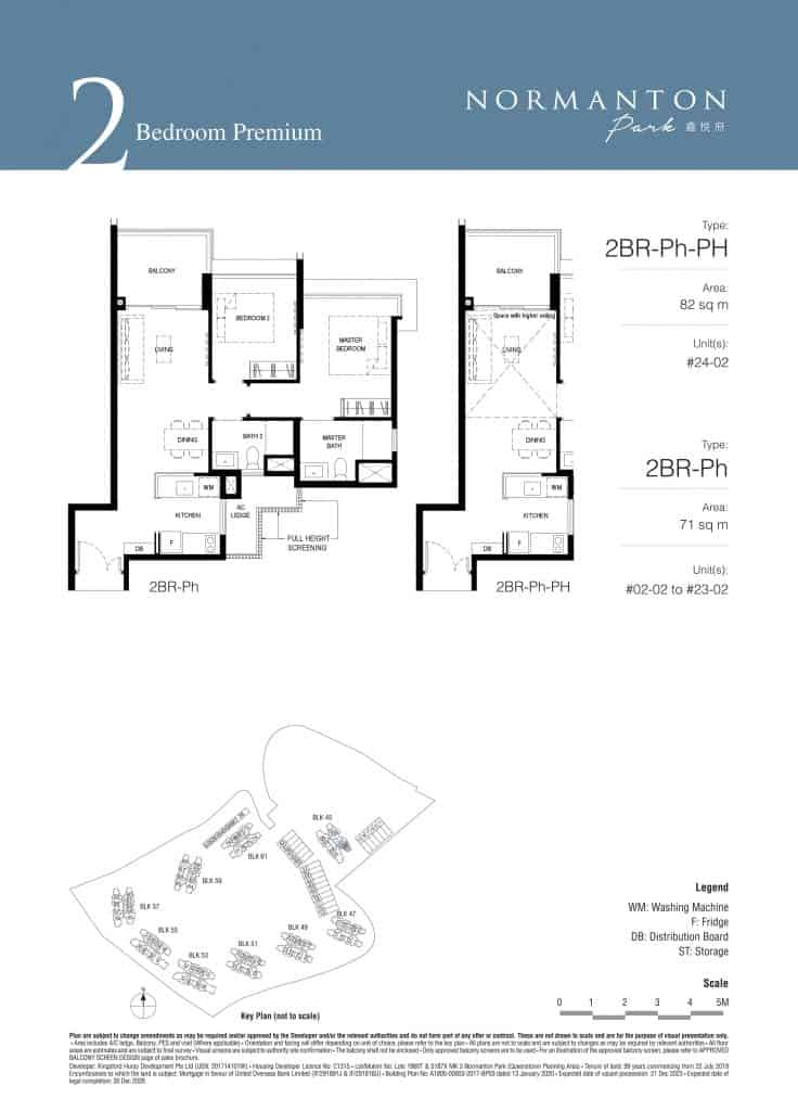 Normanton Park Floor Plan Type 2BR Ph