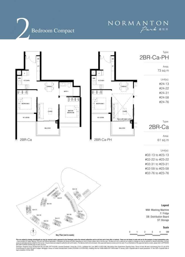 Normanton Park Floor Plan Type 2BR-Ca