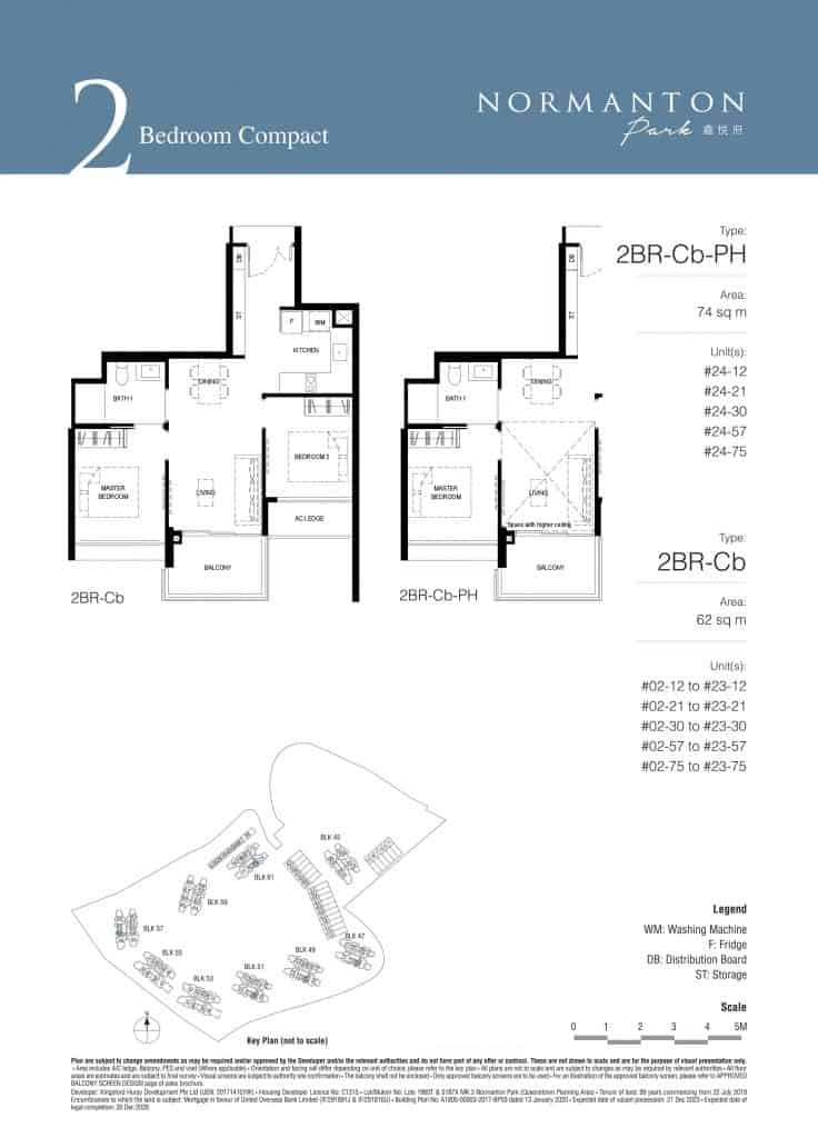 Normanton Park Floor Plan Type 2BR-Cb