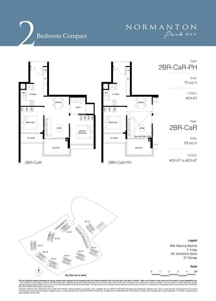 Normanton Park Floor Plan Type 2BR-CaR