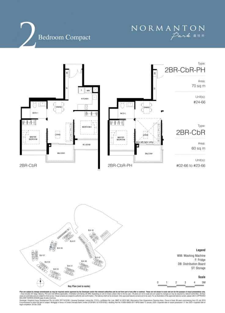 Normanton Park Floor Plan Type 2BR RCbR