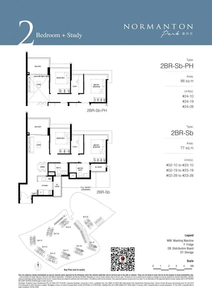 Normanton Park Floor Plan Type 2BR-Sb