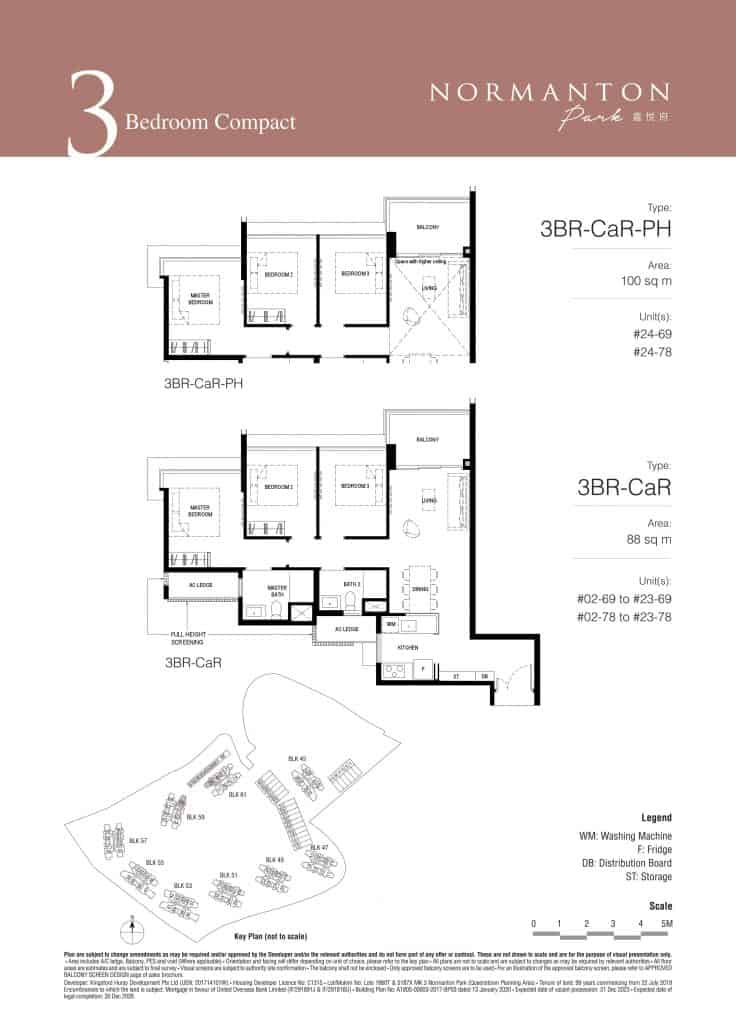 Normanton Park Floor Plan Type 3BR-CaR