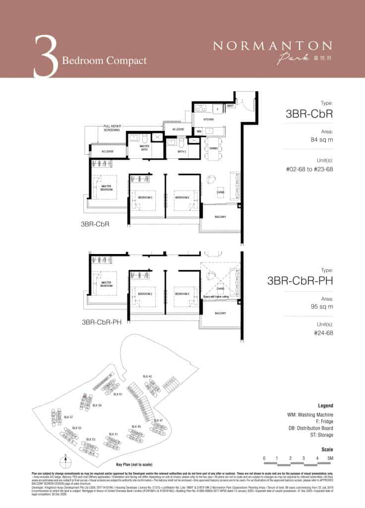 Normanton Park Floor Plan Type 3BR-CbR