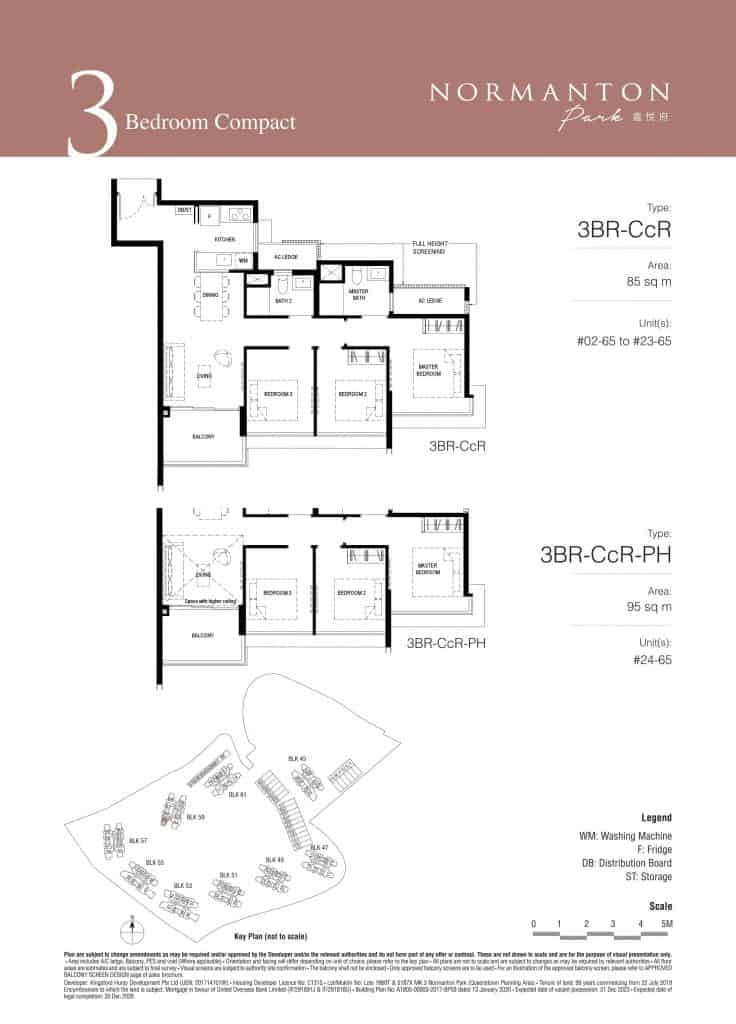 Normanton Park Floor Plan Type 3BR-CcR
