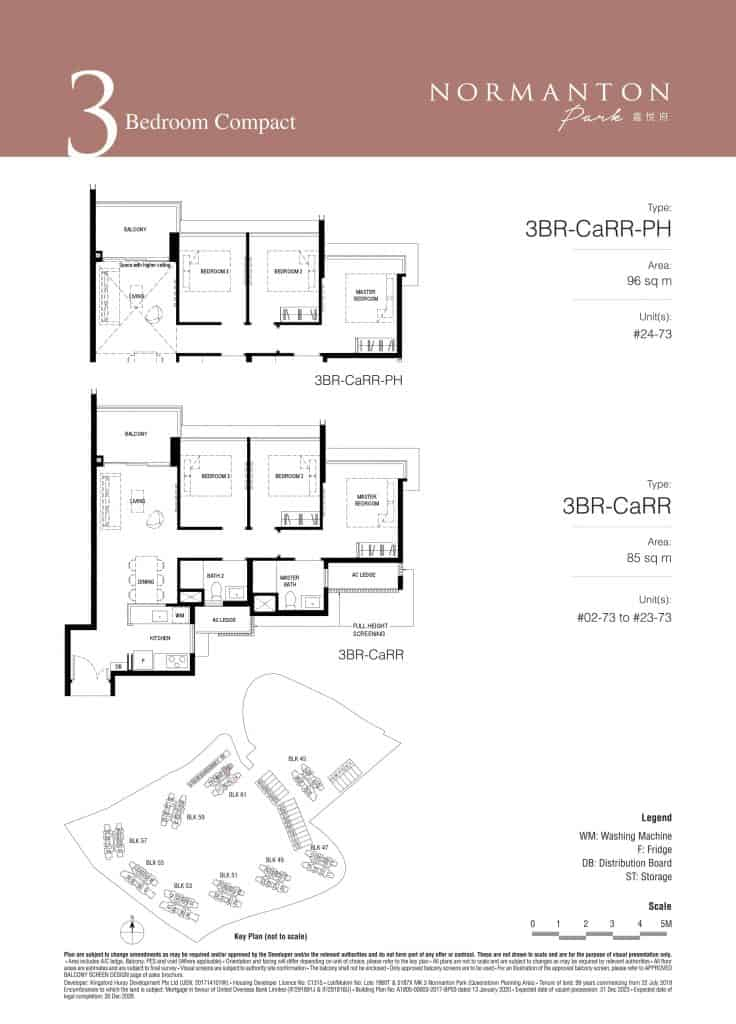Normanton Park Floor Plan Type 3BR CEaRR