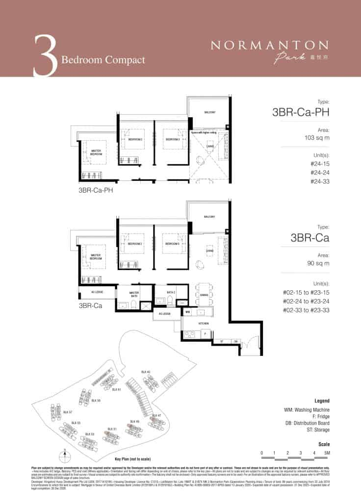 Normanton Park Floor Plan Type 3BR-Ca