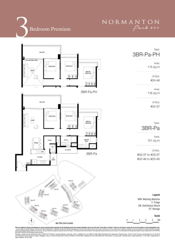 Normanton Park Floor Plan Type 3BR-Pa
