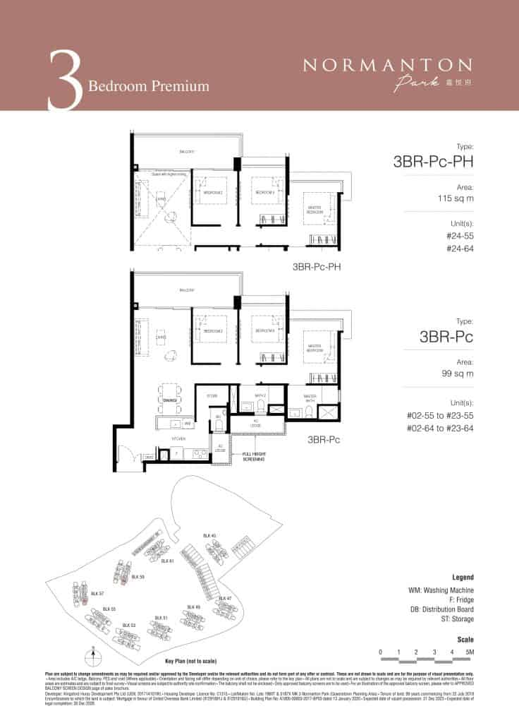 Normanton Park Floor Plan Type 3BR-Pc
