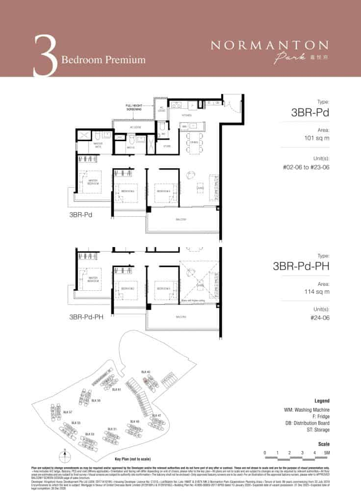 Normanton Park Floor Plan Type 3BR-Pd