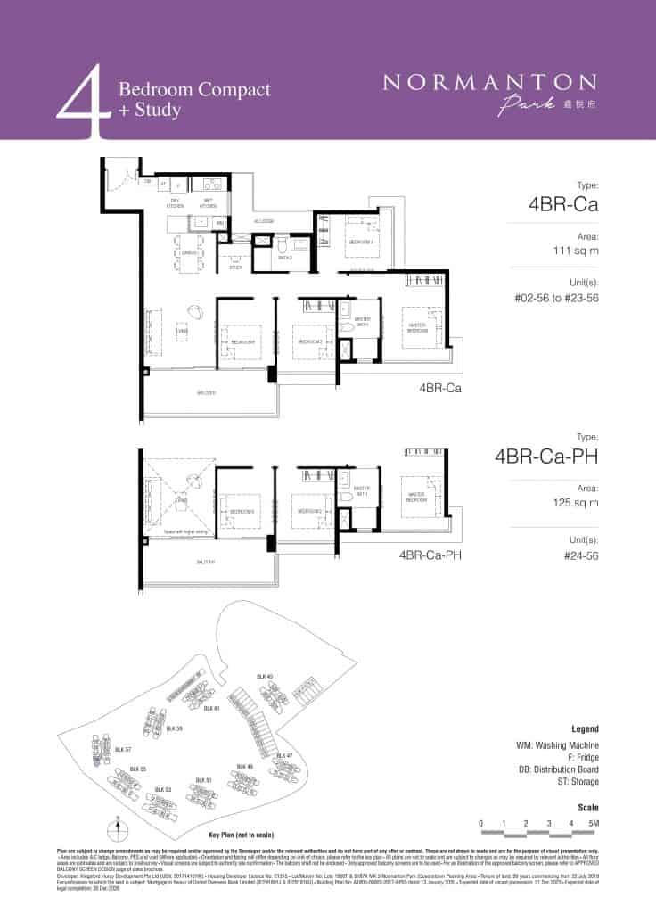 Normanton Park Floor Plan Type 4BR-Ca