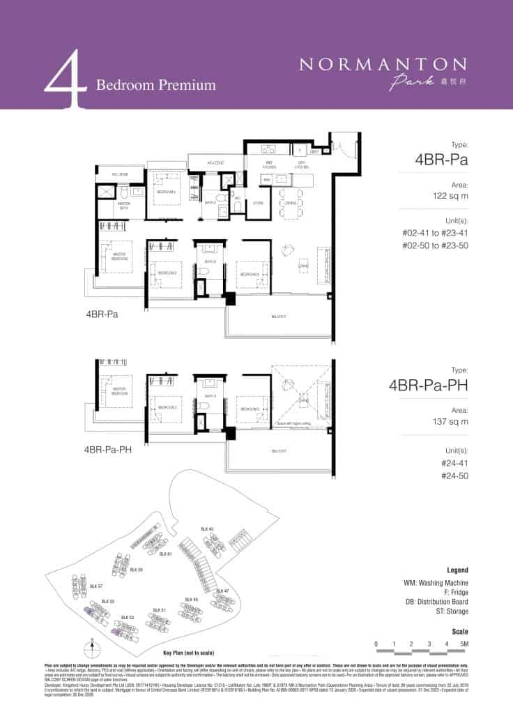 Normanton Park Floor Plan Type 4BR-Pa