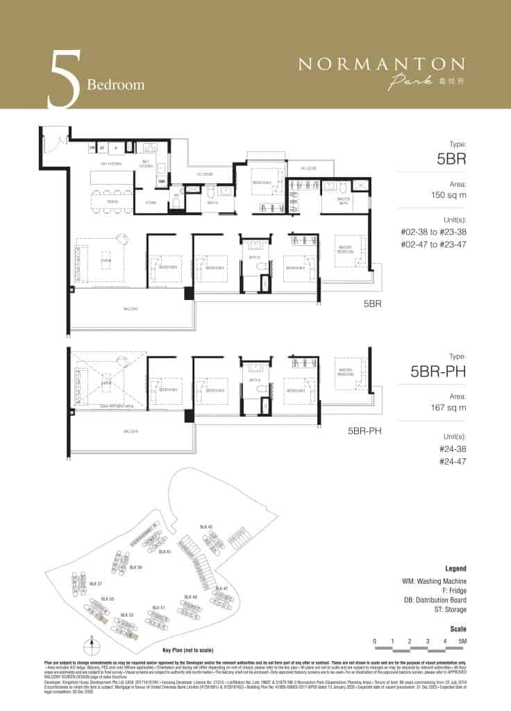 Normanton Park Floor Plan Type 5BR